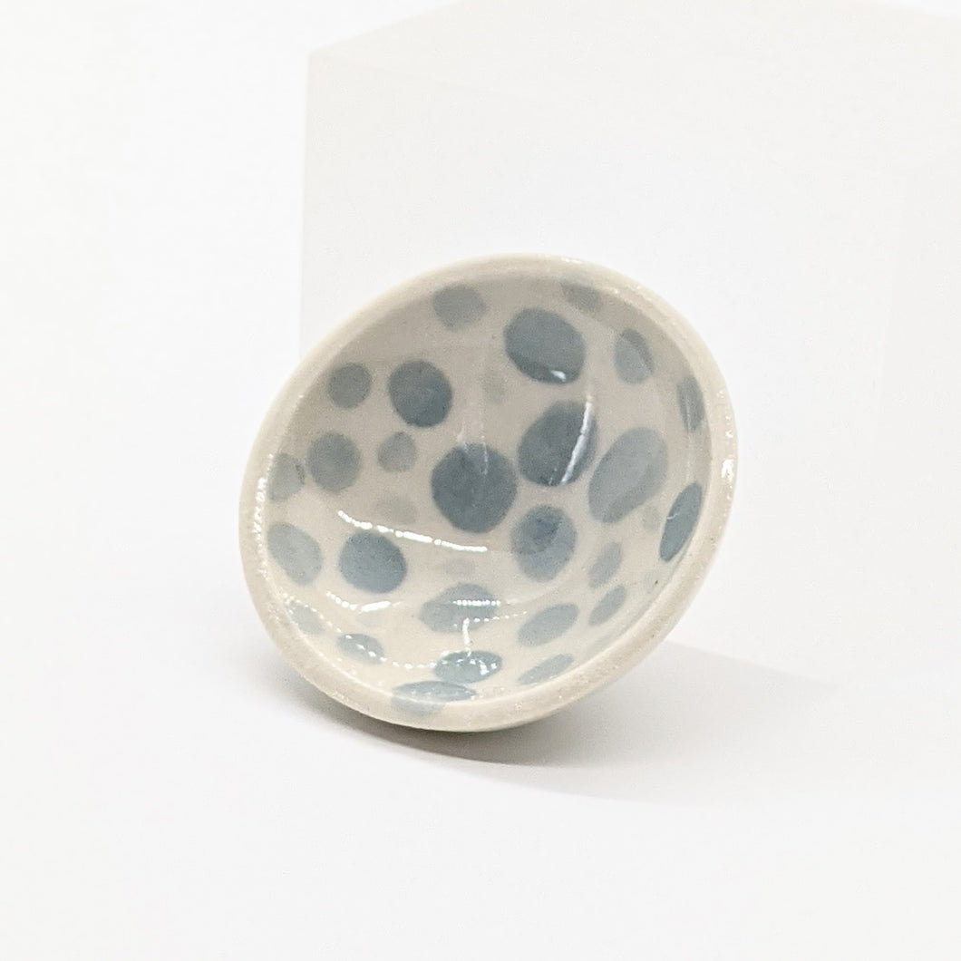 Tiny Blue Polka Dot Bowl