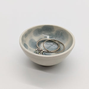 Tiny Blue Polka Dot Bowl - 4