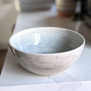 Large Watercolour Blue Bowl