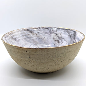 18k Gold and Marble Large Bowl - 2