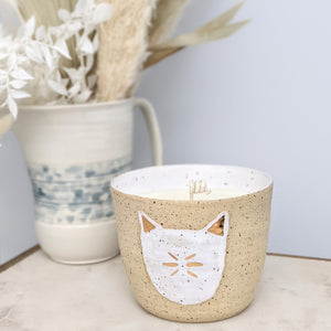 18k Gold Cat Candle