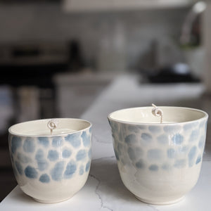 Blue Leopard Candle
