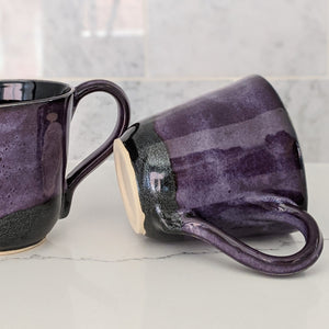 Gloria Glitter Purple Mug