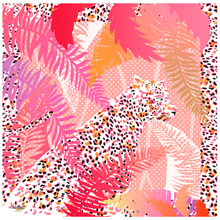Load image into Gallery viewer, Silk scarves, Tigre Tropical, SiraPuga, tigre, tropical, tiger