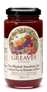 Greaves: Pure Rhubarb Strawberry Jam (250 ml)
