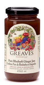 Greaves: Pure Rhubarb Ginger Jam (250 ml)