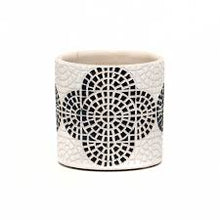 "Load image into Gallery viewer, 4"" Mosaic Pot - Black"