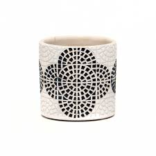 "4"" Mosaic Pot - Black"