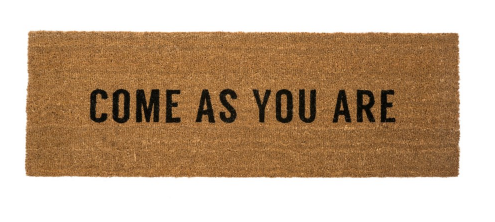 Come As You Are Coir Doormat