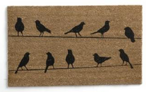 "Flock of Birds Coir Doormat - 18"" x 30"""