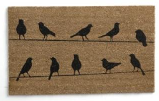 Flock of Birds Coir Doormat - 18