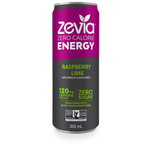 Zevia Energy Drink Raspberry Lime