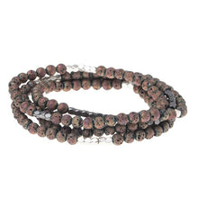 Load image into Gallery viewer, Scout Midnight Rose Lava Bracelet- Stone of Strength