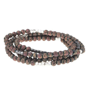 Scout Midnight Rose Lava Bracelet- Stone of Strength