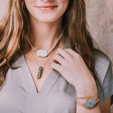 Load image into Gallery viewer, Scout Stone Point Necklace - Moonstone/Stone of Balance