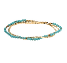 Load image into Gallery viewer, Delicate Stone Turquoise/Gold
