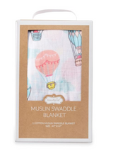 Load image into Gallery viewer, Hot Air Balloon Muslin Swaddle Baby Blanket