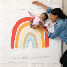 Load image into Gallery viewer, Rainbow Baby Photo Swaddle