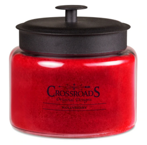 Crossroad Candle: Holly Berry (Multiple Sizes)- Holiday Candle