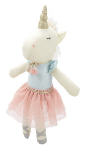 Linen Plush Tutu Unicorn Baby Doll
