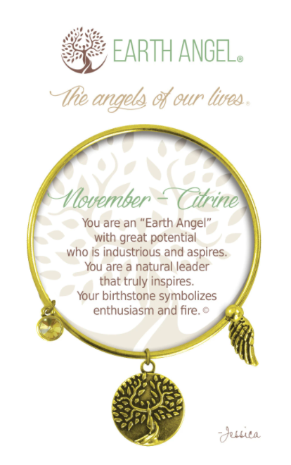Earth Angel: November Bracelet (Antique Brass)