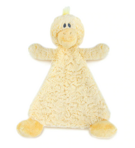 Daddles Duck Rattle Baby Blankie