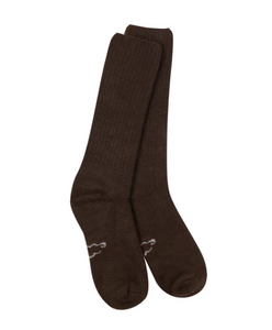 World's Softest Socks: Chocolate Classic Crew Socks