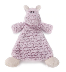 Harlow Hippo Rattle Baby Blankie