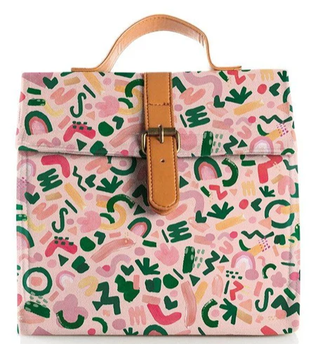 Blushing Confetti: Champagne Lunch Satchel
