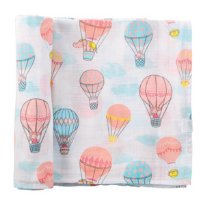 Hot Air Balloon Muslin Swaddle Baby Blanket