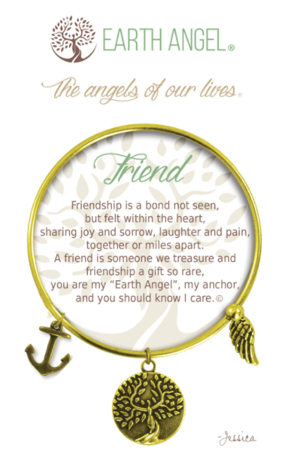Earth Angel: Friend Bracelet (Antique Gold/Brass)