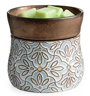 Candle Warmers: Bronze Floral 2-in-1 Deluxe