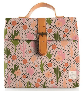 Blushing Confetti: Blooming Cacti Lunch Satchel