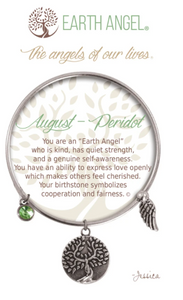 Earth Angel: August Bracelet (Silver)