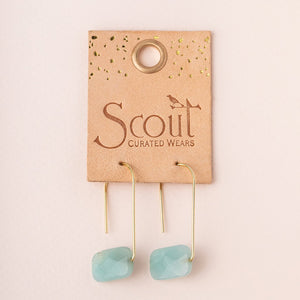 Scout Floating Stone Earrings - Turquoise/Silver