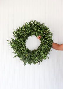 "16"" Round Boxwood Wreath"