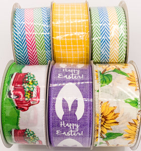 "Spring Linen Ribbon- 1.5"" x 10 yards"