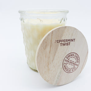 Swan Creek Candle: Timeless 12 oz Peppermint Twist - Holiday Candle