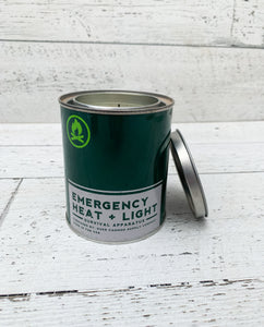 Duke Cannon Supply Co: Emergency Heat + Light: Fresh Cut Pine Candle