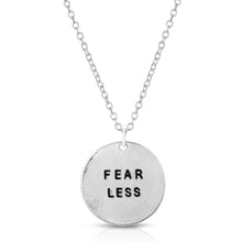 Load image into Gallery viewer, Fear Less Silver Necklace