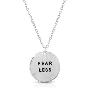Fear Less Silver Necklace