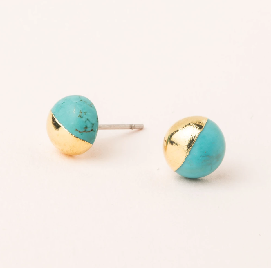 Scout Turquoise/Gold Stud Earrings