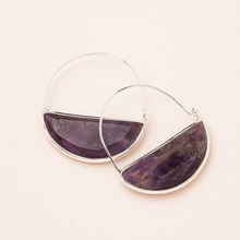 Load image into Gallery viewer, Scout Amethyst/Silver Prism Hoop Ear