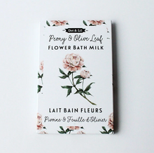 Load image into Gallery viewer, Dot & Lil Peony Olive Leaf Milk Bath Sachet