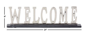 Aluminum Welcome 21x6