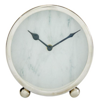 "Load image into Gallery viewer, 6"" Steel Table Clock"