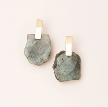 Load image into Gallery viewer, Scout Stone Slice Earring Labradorite/Gold