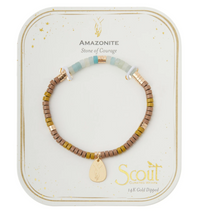 Load image into Gallery viewer, Scout Intention Charm Bracelet Amazonite/Gold