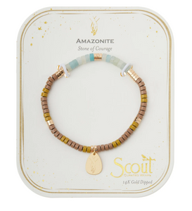 Scout Intention Charm Bracelet Amazonite/Gold