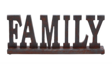 "Load image into Gallery viewer, 20x8 Wood Tabletop ""Family"" Sign"
